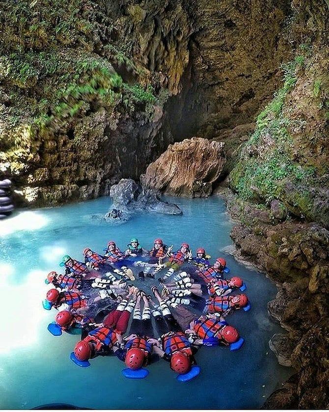 Rafting di Goa Kalisuci, sumber ig wisatajogjamantap