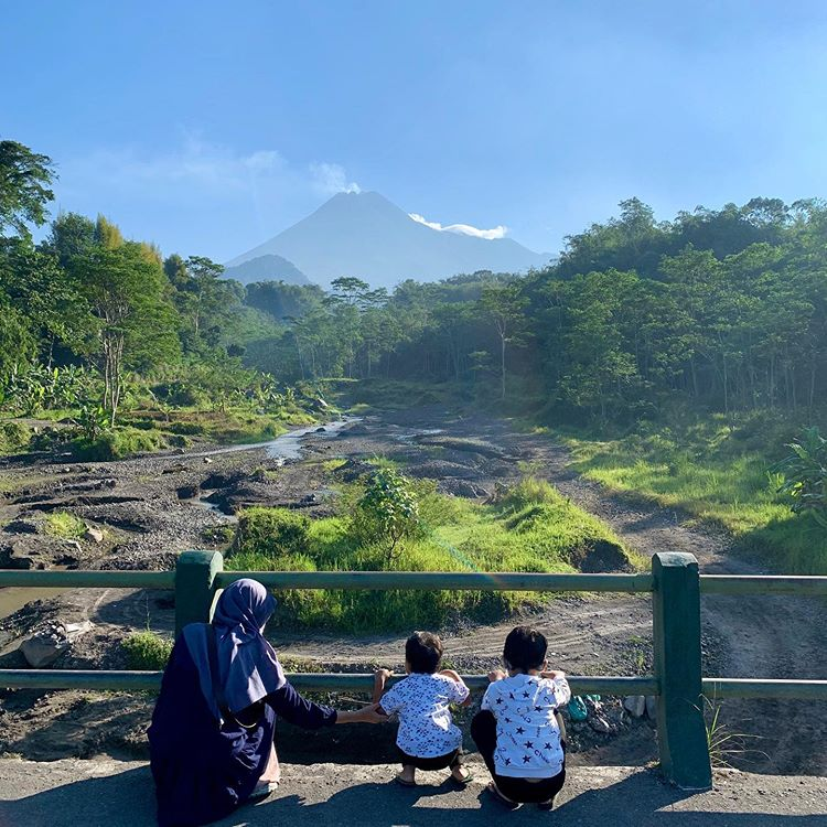 Pemandangan Sekitar Kali Boyong, sumber ig @anggra.hunandika